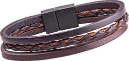 W-TEC Skórzana bransoletka magnetyczna W-TEC Ballure Długość 24 cm