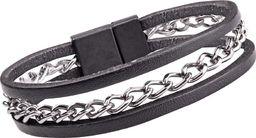 W-TEC Skórzana bransoletka na rękę W-TEC Cregnesh Długość 22 cm