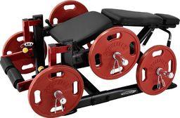 Steelflex Maszyna na mięśnie nóg - Steelflex PlateLoad Line PLLC Kolor Czarno-czerwony