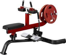 Steelflex Maszyna do ćwiczeń na łydki Steelflex PlateLoad linia PLSC Kolor Czarno-czerwony