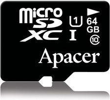 Karta Apacer Secure Digital MicroSDXC 64 GB Class 10 UHS-I/U1  (AP64GMCSX10U1-R)