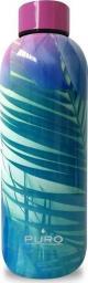 Puro Butelka termiczna Hot&Cold 500ml Tropical - Palms Pink