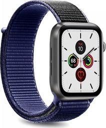 Puro PURO Apple Watch Band - Nylonowy pasek do Apple Watch 42 / 44 mm (Granatowy/Czarny)