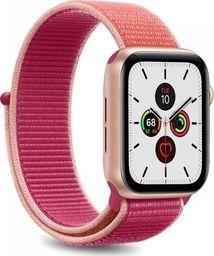 Puro PURO Apple Watch Band - Nylonowy pasek do Apple Watch 42 / 44 mm (Karalowy/Różowy)