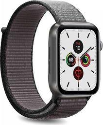 Puro PURO Apple Watch Band - Nylonowy pasek do Apple Watch 42 / 44 mm (Szary/Czarny)