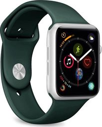 Puro PURO ICON Apple Watch Band - Elastyczny pasek sportowy do Apple Watch 42 / 44 mm (S/M & M/L) (ciemnozielony)