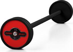 Marbo Sport Steel Rubber Barbell 15 kg - Marbo Sport