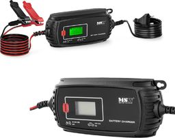 MSW Prostownik akumulatorowy samochodowy z ekranem LCD 70 W 6/12 V 2/4 A