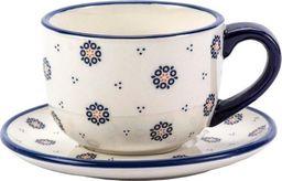 Tadar Ceramiczna Filiżanka ze Spodkiem do Kawy Herbaty Tadar Folklor 320 ml uniwersalny