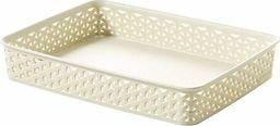 Curver Organizer do biura/łazienki/kuchni A4 taca koszyk pudełko CURVER rattan Kremowy uniwersalny