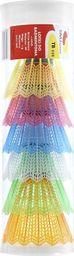 Teloon Lotki do badmintona TELOON TB020 6szt. plastikowe kolorowe uniwersalny