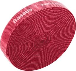Organizer Baseus Taśma rzepowa, organizer kabli Baseus Rainbow Circle Velcro Straps 3m (czerwony)