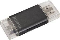 Czytnik Hama USB2.0CR SD/microSD 2W1 mirco USB szary (001239760000)