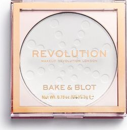 Makeup Revolution Bake & Blot Puder prasowany White 5.5g