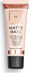 Makeup Revolution Matte Base Foundation F3 28ml