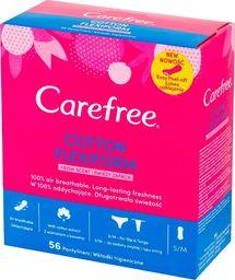 Carefree Carefree Cotton Flexiform Wkładki higieniczne Fresh Scent - świeży zapach 1op.-56szt