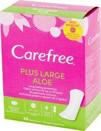 Carefree Carefree Plus Large Aloe Wkładki higieniczne 1op.-46szt