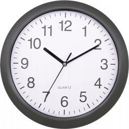 Platinet zegar ścienny okrągły, szary