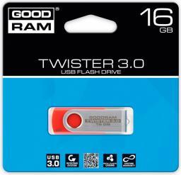 Pendrive GoodRam Twister 16GB USB 3.0 Czerwony (PD16GH3GRTSRR9)