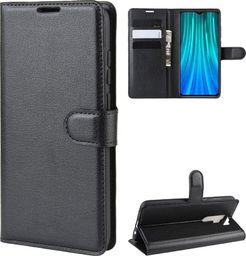 Wozinsky Wozinsky Wallet Case kabura etui portfel pokrowiec z klapką Xiaomi Redmi Note 8 Pro czarny uniwersalny