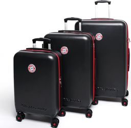 MarkenMerch Zestaw 3 x walizka ABS licencja Bayern Munchen