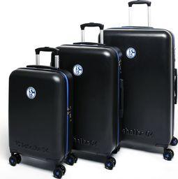 MarkenMerch Zestaw 3 x walizka ABS licencja Fcschalke 04