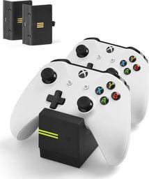 Snakebyte stacja ładująca kontrolera XBOX ONE + 2x akumulator 800 mAh czarna TWIN:CHARGE X