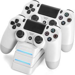 Snakebyte stacja ładująca kontroler PS4 biała TWIN