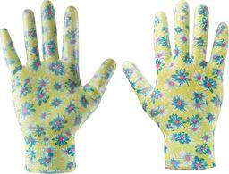 """Verto Rękawice ogrodowe (Rękawice ogrodowe pokryte nitrylem, wzór kwiatki, rozmiar 7"""")"""