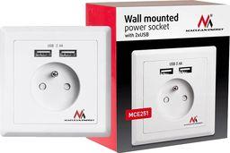 Maclean Gniazdko Pradowe z USB do zabudowy MCE251 -MCE251