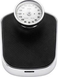 Waga łazienkowa ADE ADE BM 702 Felicitas Mechanical Bathroom Scale, capacity 160kg, lifted full view dial display, non-slip rubberized, 275 x 345 x 113 mm, stainless steel/black