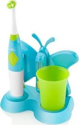 ETA ETA ETA129490080 ZUBNIČKA Toothbrush with water cup and holder, Long run time, 2 AAA battery, White/Blue