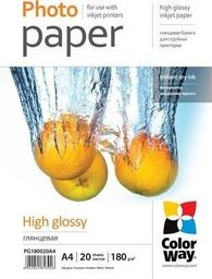ColorWay ColorWay High Glossy Photo Paper,180g/m, 20 sheets, A4
