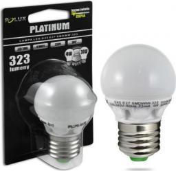 Polux Żarówka LED Polux bańka E27 moc 4W 323lm pc+alum ciepła G45 (303127)