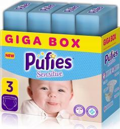 Pufies Pieluchy Sensitive 3 (4-9kg) 208 szt.