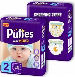 Pufies Pieluchy Baby Art & Dry 2 (3-6kg) 152 szt.