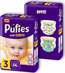 Pufies Pieluchy Baby Art & Dry rozmiar 3 132 szt.