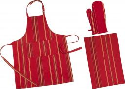 Heinner fartuch kuchenny + ręcznik kuchenny + rękawiczka kuchenna (3 HR-KS3-RED01)