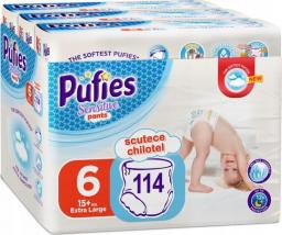 Pufies Pieluchomajtki Pufies Sensitive Pants 6 (15+kg) 115 szt.