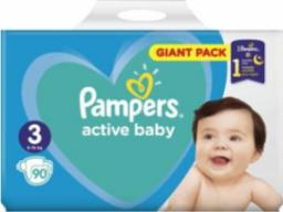 Pampers Pieluchy Active Baby r. 3 Midi 6-10 kg 90 szt.