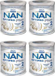 Nestle Mleko modyfikowane Nan Optipro Plus 2 HM-O dla niemowląt powyżej 6 miesiąca 4x800g