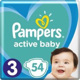 Pampers Pieluchy Active Baby 3 Midi (6-10kg) 54 szt.