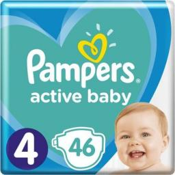Pampers Pieluchy Active Baby 4 Maxi (9-14 kg) 46 szt.