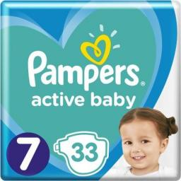 Pampers Pieluchy Active Baby Value Pack 7 33 szt.