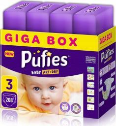 Pufies Pieluchy Baby Art & Dry 3 (4-9kg) 208 szt.