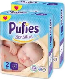 Pufies Pieluchy Sensitive 2 Mini- Maxi Pack (3-6kg) 148 szt.