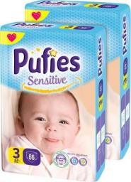Pufies Pieluchy Sensitive 3 Midi (4-9kg) 132 szt. Maxi Pack