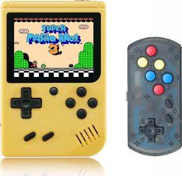 Retro FC Mini konsola przenośna Retro 168 gier Żółta + Pad