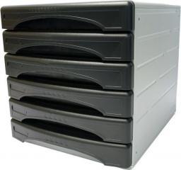 Arda organizer Classic szaro-czarny 6 szuflad  (13G6PN)