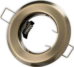 Kobi KOBI Oprawa oprawka halogenowa okrągła stała stare złoto patyna